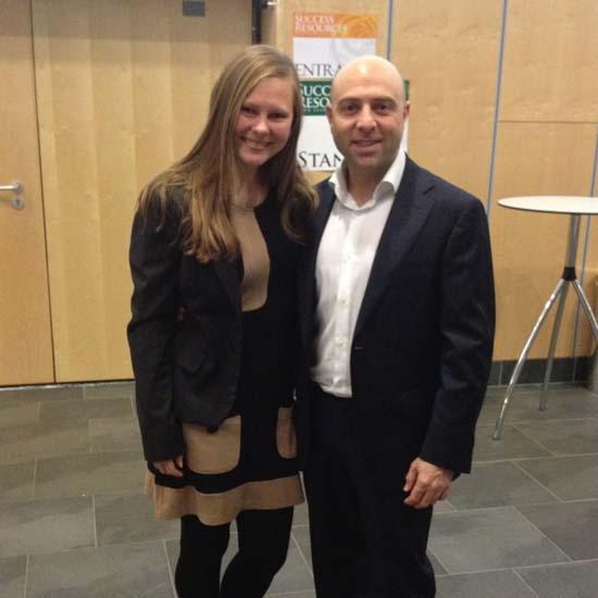 Elena with Arnon Barnes