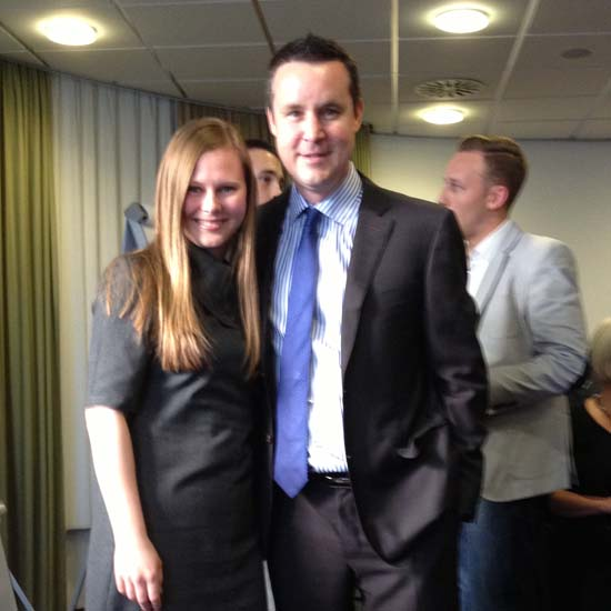 Elena with Darren Weeks